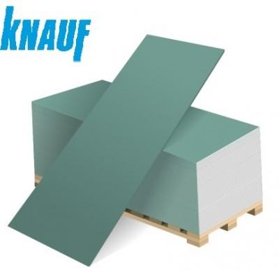 Гипсокартон (ГКЛВ) КНАУФ влагостойкий 2500х1200х12,5 мм