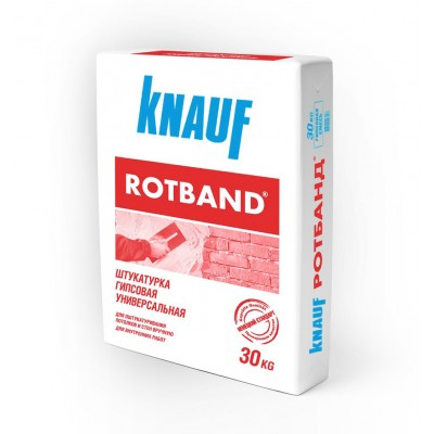 Штукатурка гипсовая Knauf Ротбанд, 30 кг